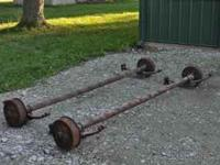 "2 (two) 3500# axles with electric brakes 80"" width to"