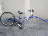 "Hello, Selling a trailer bike. size: 20"" color: purple"