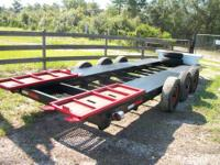 HEAVY DUTY DIAMOND PLATE TRI AXEL TRAILER WITH STEEL