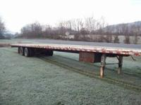 Working Tandem Trailer with Tandem Axels New Tires 48