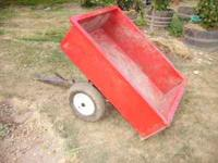 riding mower dump trailer $60.00 see pictures