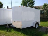 Enclosed Trailer 6 x 10 with Ramp door , Side door ,