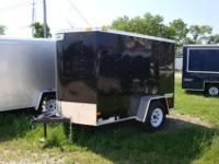 Enclosed 5 x 8 Trailer , Swing Door , Radial Tires ,