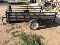 I have a pull trailer with mesh floor deck and black