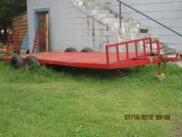 20 foot trailer,16 foot steel flat bed dual axle,