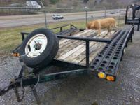 This is a 11' trailer with heavy duty Dexter axles,