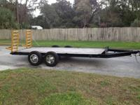 This is a very solid HEAVY DUTY Tandem Axle Trailer