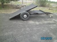 I built this trailer to haul smaller objects eg. Garden