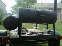 I've got a wood smoker grill which is trailer mounted.