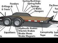 , if YOU NEED PARTS FOR YOUR TRAILER COME TO MOTORS IN