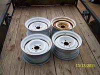 4 matching 15x7 inch rims. 4 1/2 inch bolt spread. Some