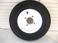 Trailer Tire & Wheel * 480-8 * 4 Hole * Used * Shows