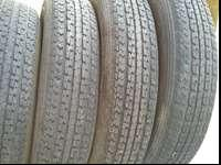 FULL SET of matching used trailer tires. Load range C