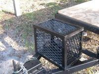 Trailer Tongue Battery Box- Custom made Steel Mesh