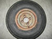 I have 4 wheels and tires for a small trailer. The