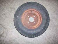 I have two trailer wheels and tires for sale, one is a