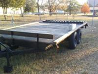 Trailer    with title     96 wide 40 long    ramps