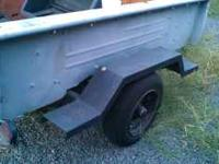 Garden trailer. Great for hauling garden debris and