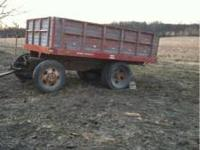 4 wheel Dump trailer made out of an older wheat