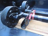 Two Dexter trailer axles, torsion suspension with E-Z