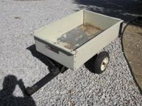 Selling a 12 cubic feet garden dump trailer with slide