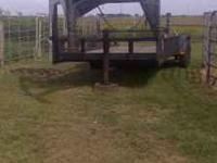 20 FOOT LOWBOY GOOSENECK TRAILER FOR SALE. $2850.