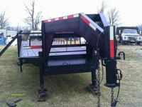 Trailmaster flatbed gooseneck trailer with 12k dual