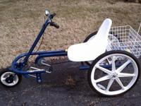 this trike is great for elderly or handicap. phone or