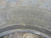 GOOD TIRES GOOD TREAD THE SIZE IS 16 TEENS