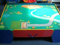 This train table is in very good condition.  My son