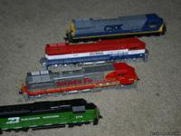 TRAIN ENGINES :CSX 9023 BC RAIL 4643 SANTA FE 601