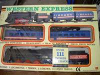 vintage battery operated train set western express by