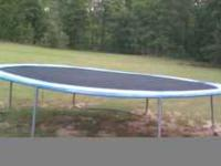 Trampoline for sale. In good condition. This was
