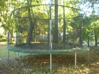 Trampoline with enclosure for sale $250obo. Call Kelly
