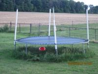 Trampoline. Good condition. 16 feet across and 3 feet