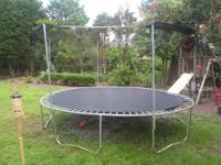 trampoline is 15 foot and round.It is in very good