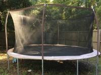 Trampoline for sale Excellent condition Includes