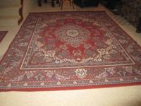 Set of 4 Trans Ocean Inc. Rugs in Kerman Red design.