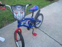I am selling my sons transformers bike, he had only 1