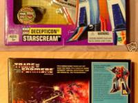 New Factory Sealed Boxed Transformers G1 Starscream Jet