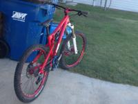 red Transition bottle rocket  rear shock dhx 5.0 fork