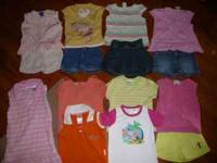 Trash Bag of Girls Clothes, sz 4/5T tops shorts jeans