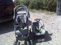Baby Trends travel system $70.00. The stroller and car