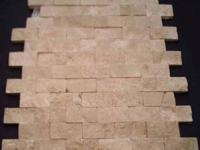 Travertine 2x4 - 2X2 - 1X1 - meshed light or noce for