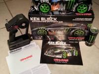 LIGHTLY used Traxxas Ken Block 1/16 4x4 Rally Car. This