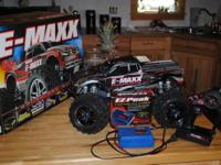 I have an almost new Traxxas E-Maxx Brushless Edition.