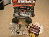 This is a Traxxas E-Revo 1/10 scale Brushless Castle