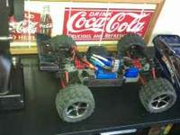 Brand New Traxxas E REVO VXL. About 10 hours of run