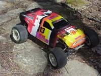 This is the Traxxas Nitro Rustler. It does need a new