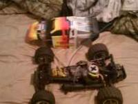 Traxxas nitro rustler rc car. It has the pro .15 motor